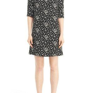 Saint Laurent Paris Black Star Print Shift Dress